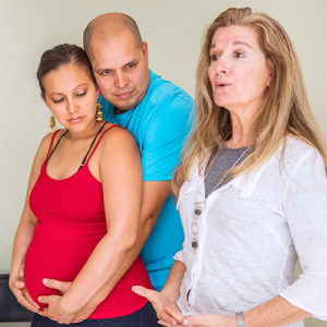 Jenny kozlow with pregnant couple